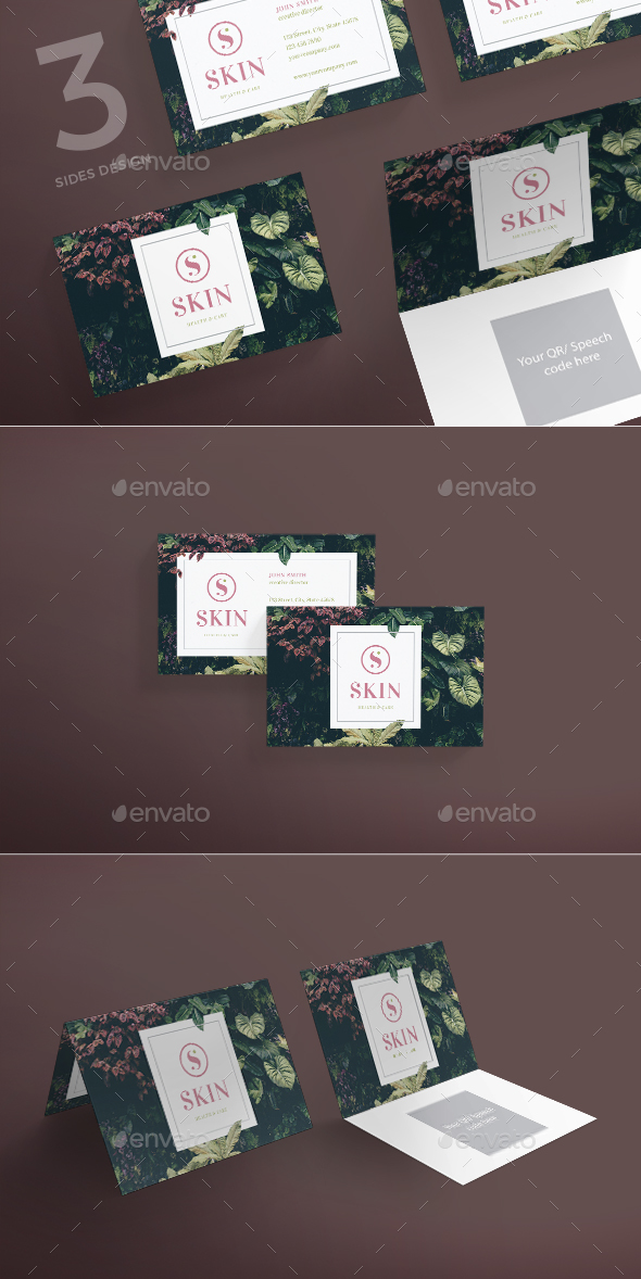 GraphicRiver Skin Care Business Card 21132022
