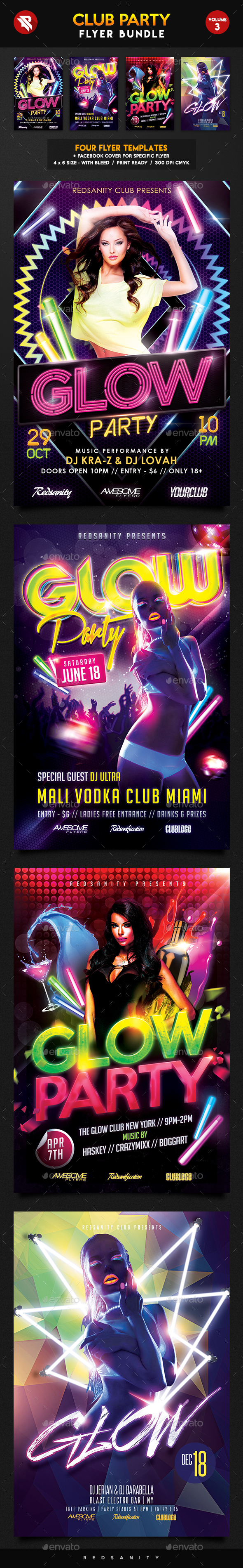 Club Flyer Bundle Vol.3 - Clubs & Parties Events