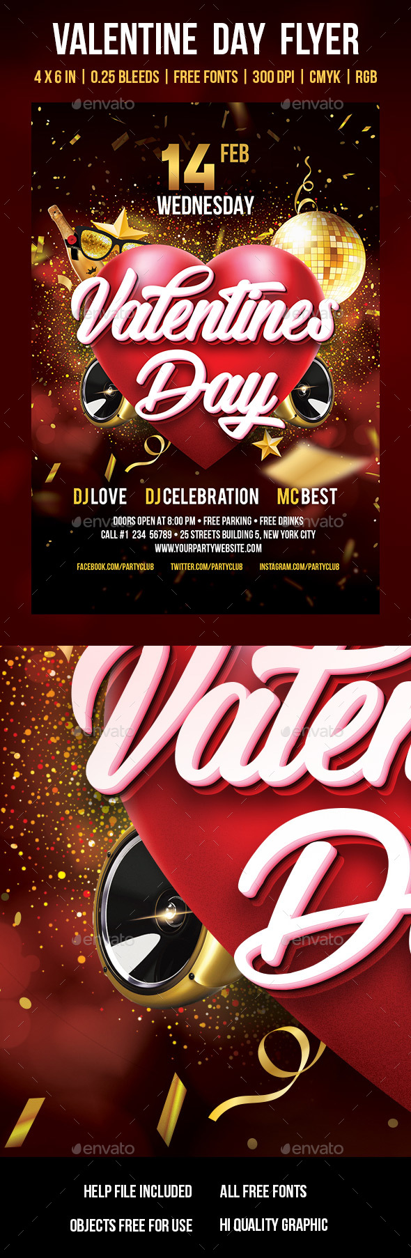 Valentine Day - Events Flyers