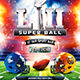 American Football Super Ball Flyer vol.7 - GraphicRiver Item for Sale