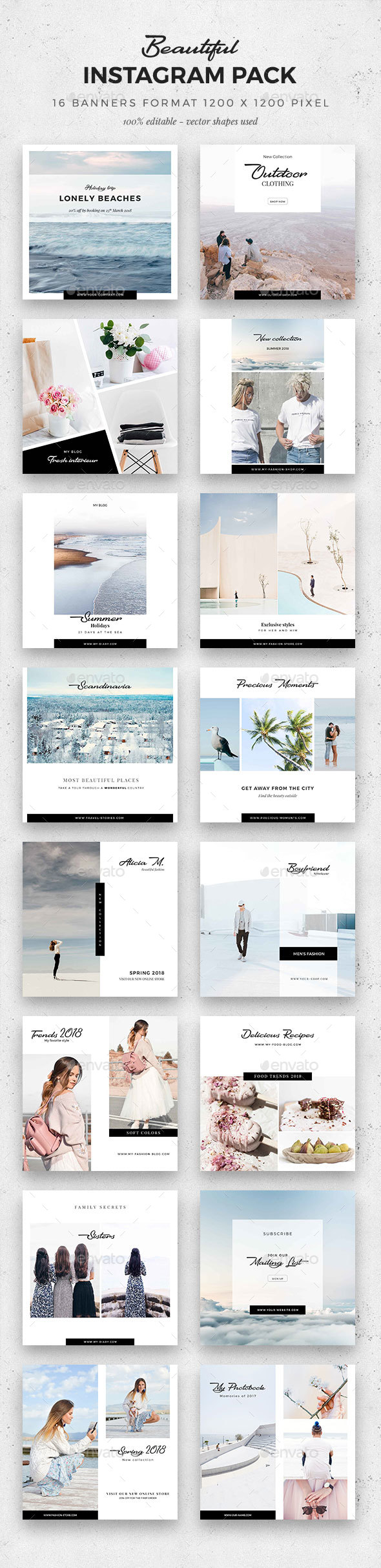 GraphicRiver Beautiful Instagram Pack 21132255