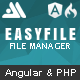 EasyFile - AngularJS & CodeIgniter File Manager