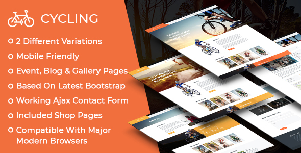 Image of Cycling Multipurpose Responsive HTML Template