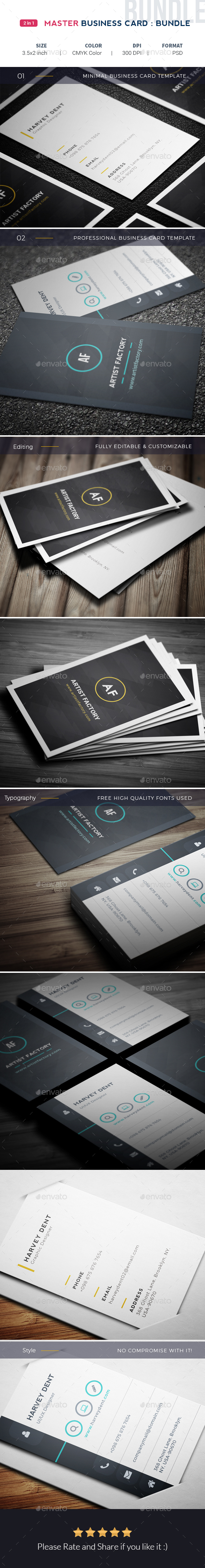 Master Business Card Bundle - Corporate Business Cards