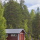 Finland landscape forest lake and red wooden cabin. Finnish summer - PhotoDune Item for Sale