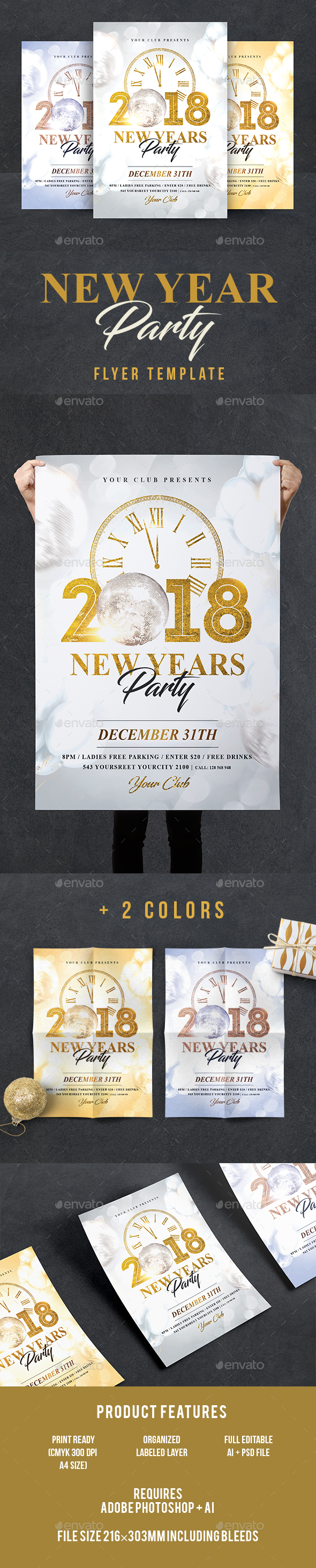 GraphicRiver New Year Flyer 21132364