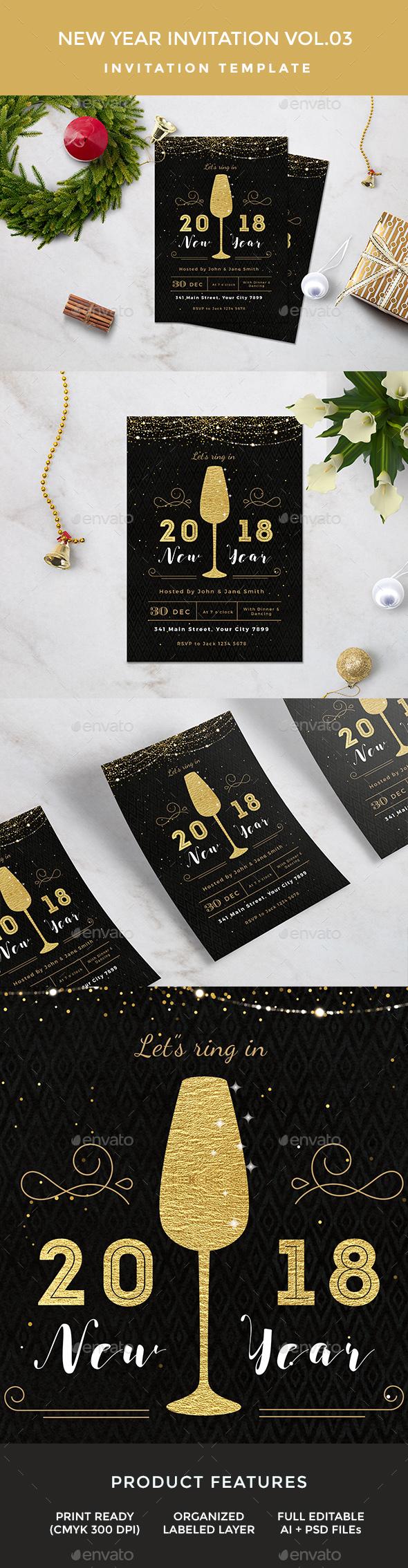 New Year Invitation - Invitations Cards & Invites