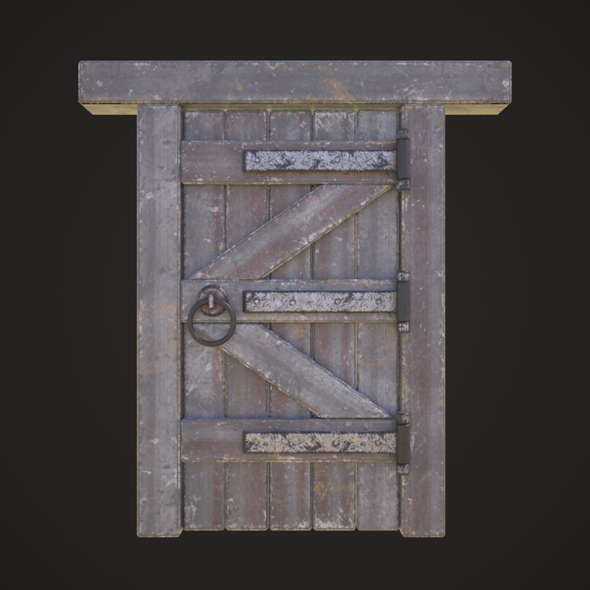 3DOcean Wooden door model 21132499