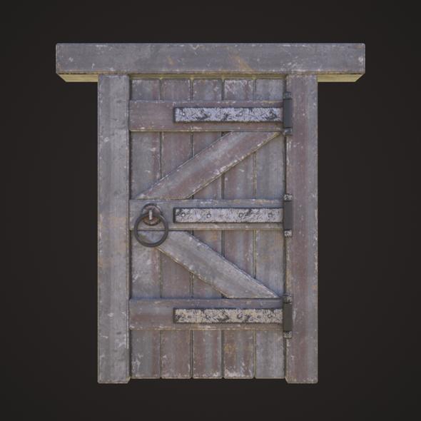 Wooden door model - 3DOcean Item for Sale