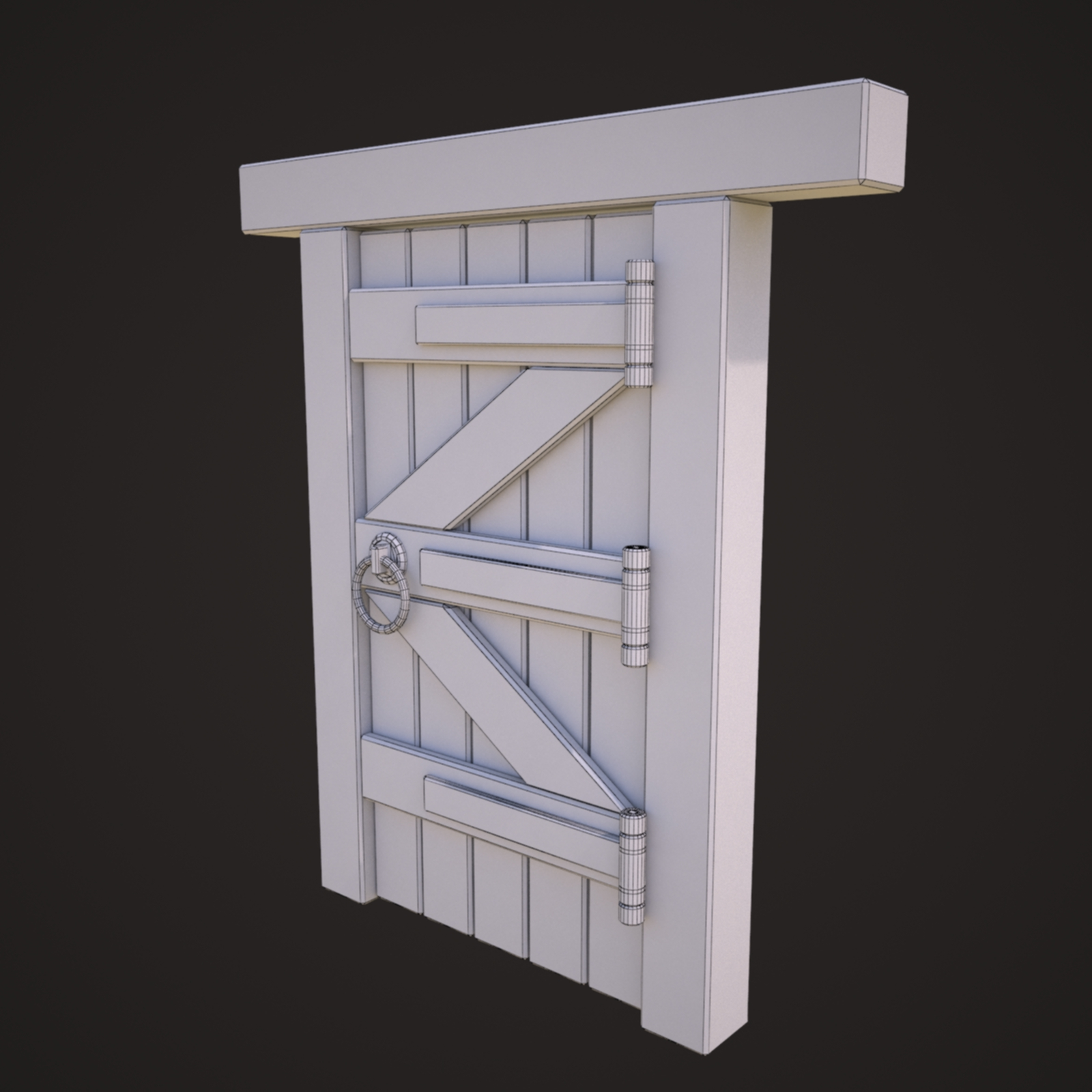 Wooden Door Model By Nicu Tepes 3docean