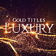 Gold Luxury Titles - VideoHive Item for Sale