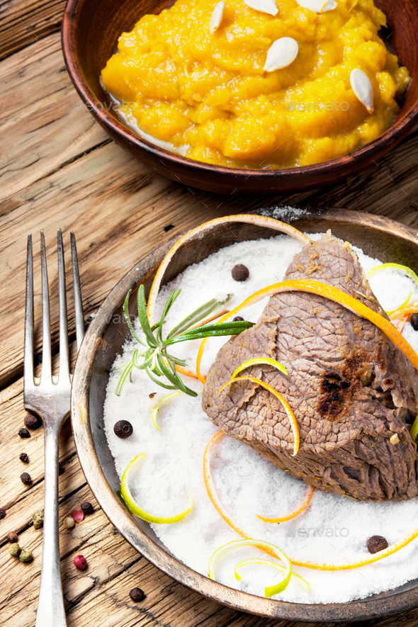 Stew meat with spice - Stock Photo - Images