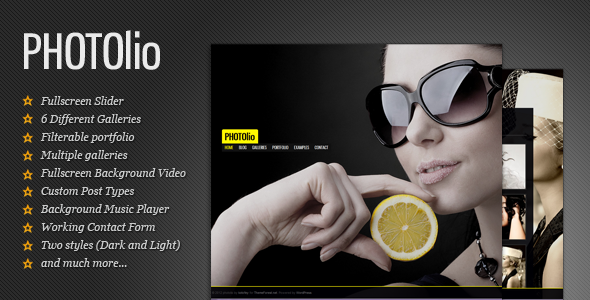 Photolio Photography - Photography WordPress Theme