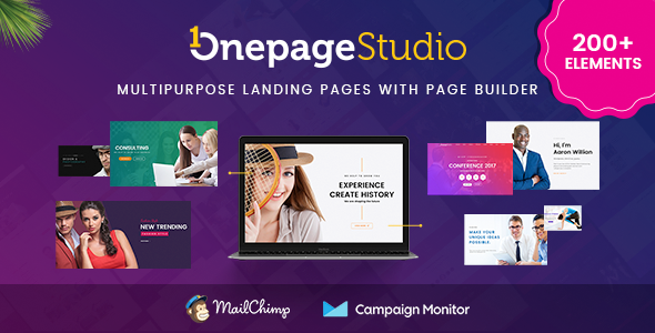 Onepage Studio - Multipurpose Landing Page with Page Builder - Marketing Corporate