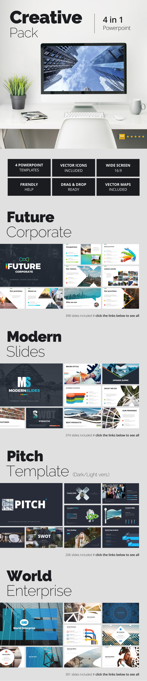 Creative Pack - Creative PowerPoint Templates