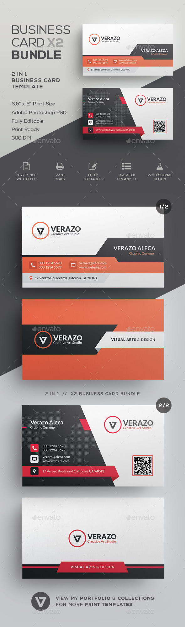 GraphicRiver Business Card Bundle 45 21132827