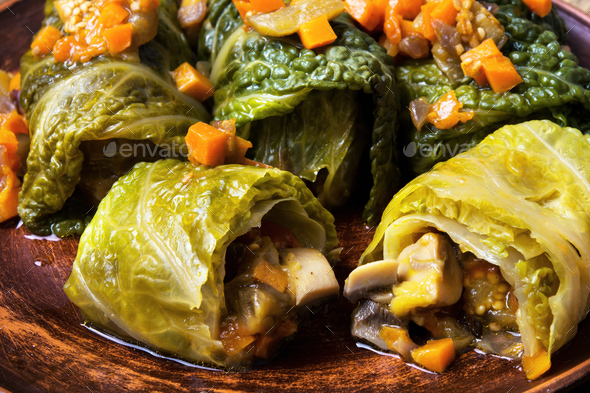 cabbage rolls with vegetable - Stock Photo - Images
