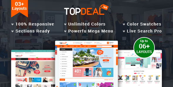 Image of TopDeal - Multipurpose Shopify Theme with Sectioned Drag & Drop Builder