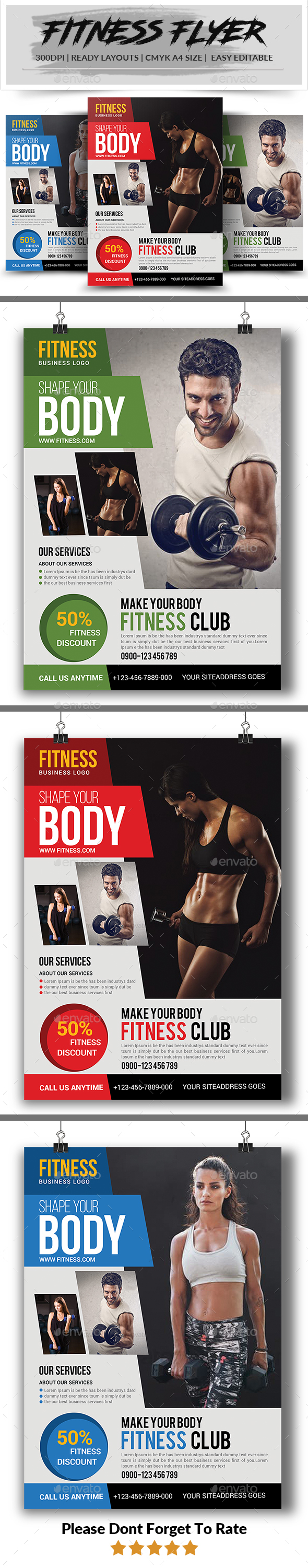 GraphicRiver Fitness Flyer 21129155