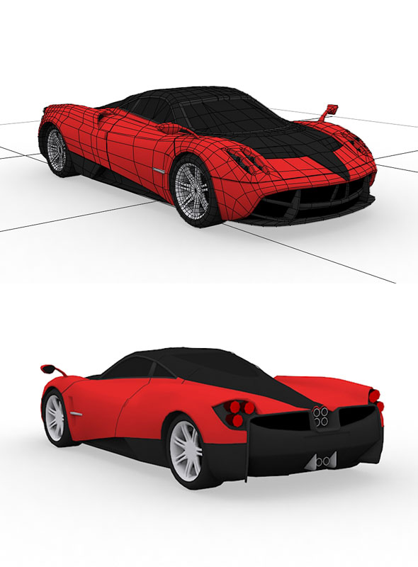 3DOcean Pagani Huayra Model 21133024