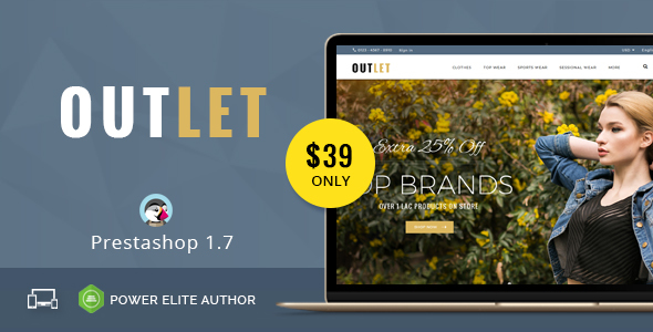 Image of Outlet - Responsive Prestashop 1.7 Theme
