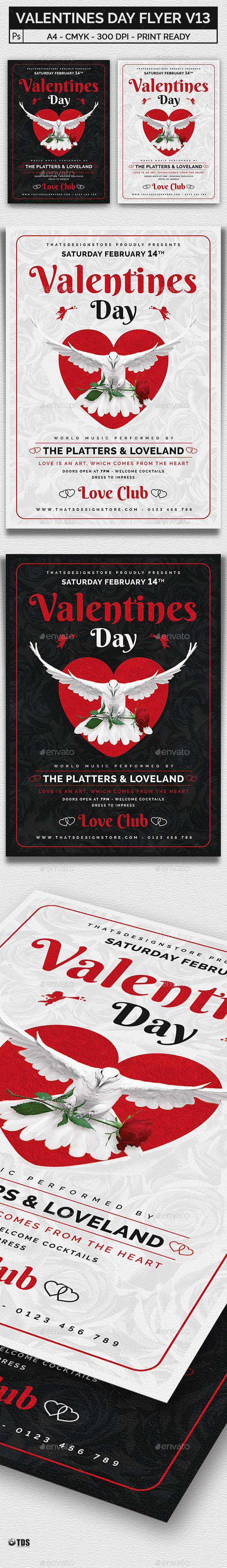 Valentines Day Flyer Template V13 - Clubs & Parties Events