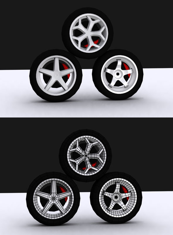 3DOcean Tire Vol Model 21133339