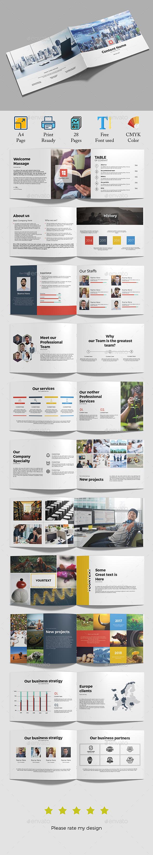 GraphicRiver A4 Brochure 21131689