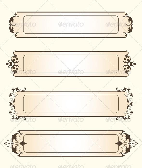 Fancy Tags - Borders Decorative