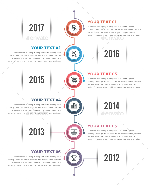 GraphicRiver Vertical Timeline Infographics 21133405