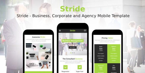 Download Stride - Business, Corporate and Agency Mobile Template            nulled nulled version
