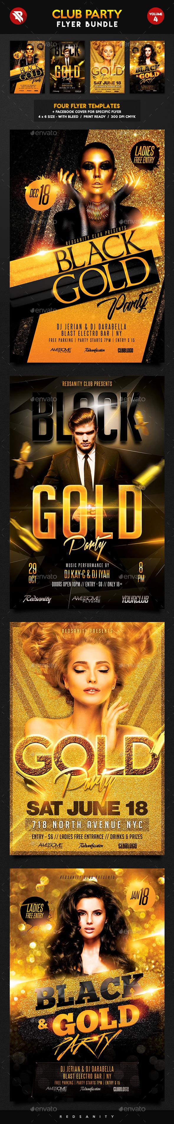 Club Flyer Bundle Vol.4 - Clubs & Parties Events