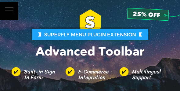 CodeCanyon Advanced Toolbar Superfly Menu Plugin Add-on 21133970