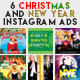 6 Christmas & New Year Instagram Banner - GraphicRiver Item for Sale