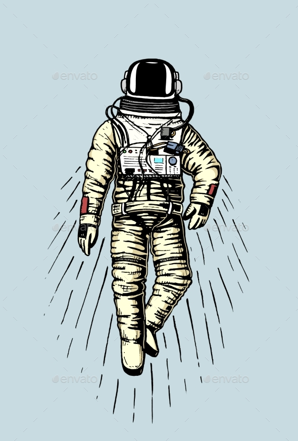Astronaut Spaceman - Miscellaneous Vectors