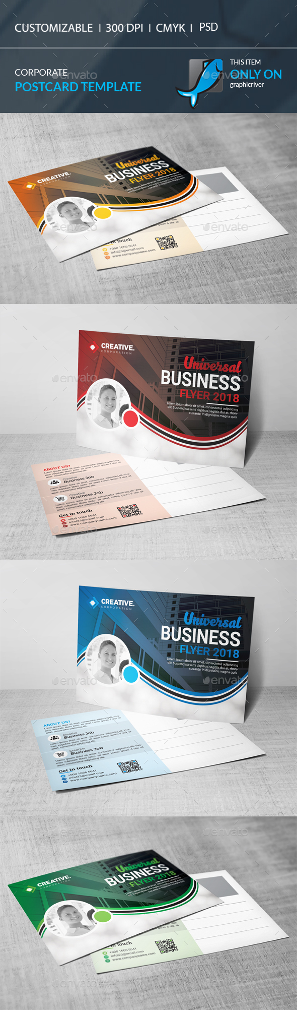 GraphicRiver Postcard Template 21134158
