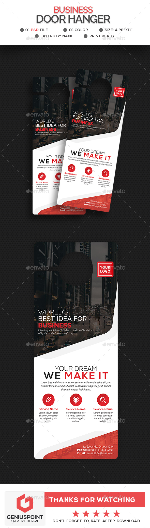 Business Door Hanger Template - Miscellaneous Print Templates