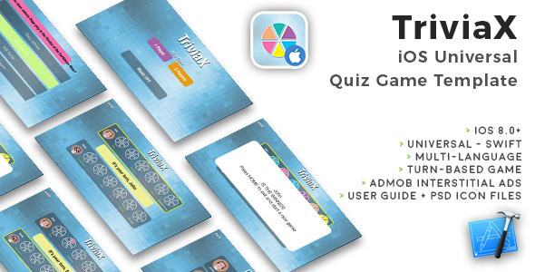 TriviaX | iOS Universal Multi-language Quiz Game Template (Swift) - CodeCanyon Item for Sale
