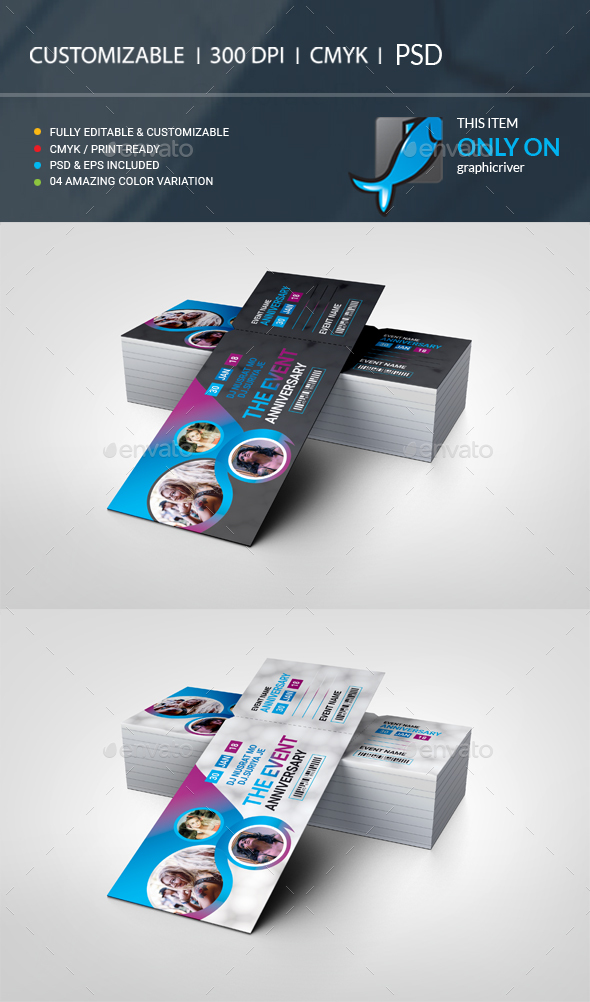 GraphicRiver Event Ticket VIP Pass 21134253