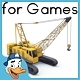 Crawler crane 02 - 3DOcean Item for Sale