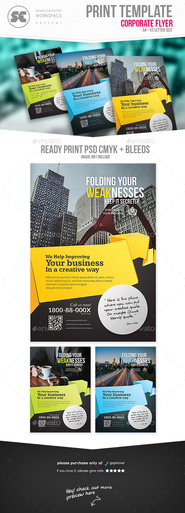 Clean & Modern Corporate Flyer/Magazine Ads - Corporate Flyers