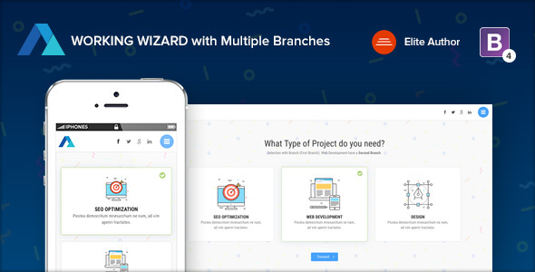 ThemeForest STEPS Multipurpose Working Wizard with Branches 21134396