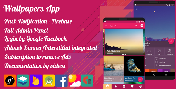 Download Source code              4K Wallpaper App Pro -  Material Design            nulled nulled version