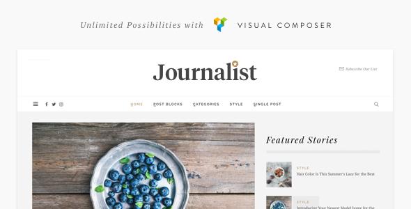 Journalist - WordPress Blog & Magazine Theme - News / Editorial Blog / Magazine