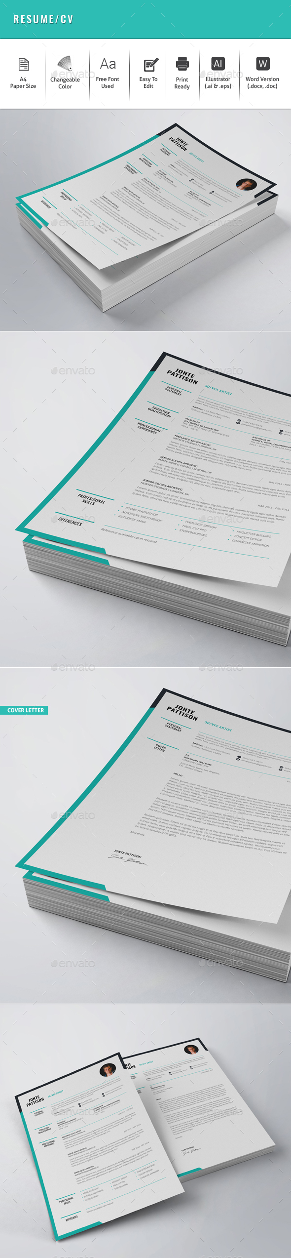 GraphicRiver Resume CV 21134593