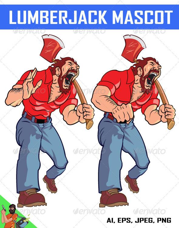 Lumberjack Mascot - People Characters