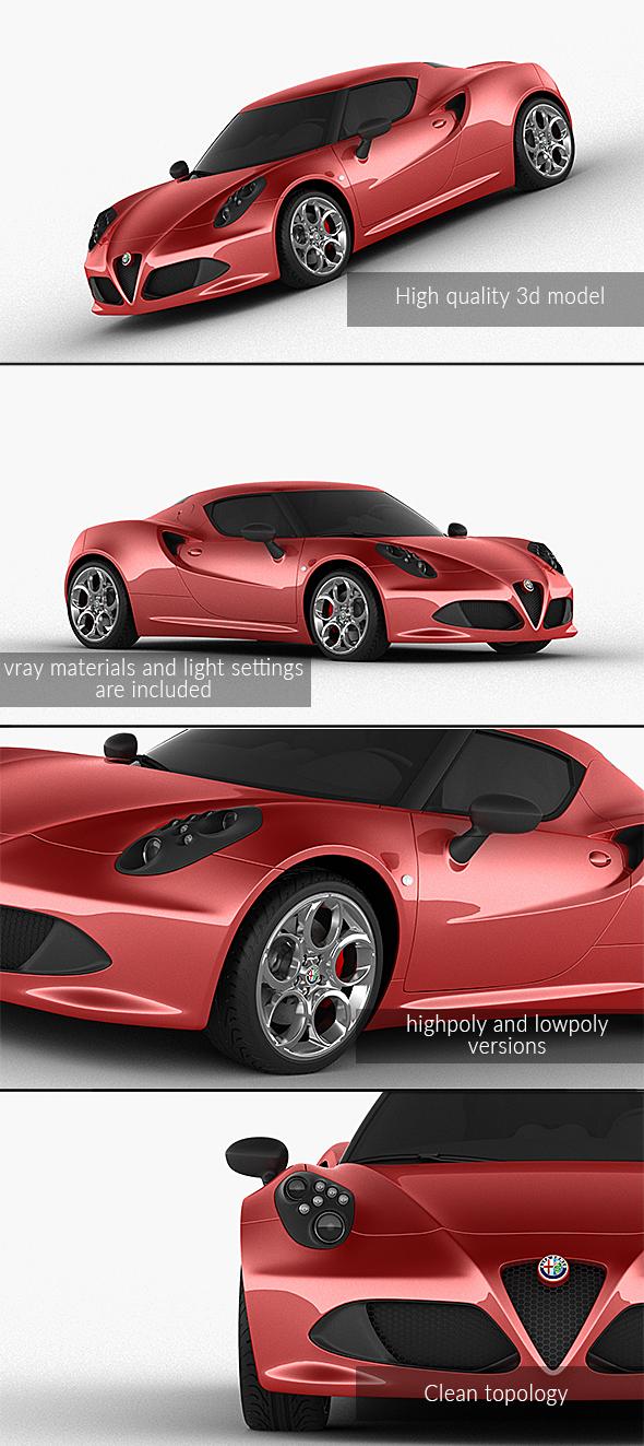 3DOcean Alfa Romeo 4C 2014 21134727