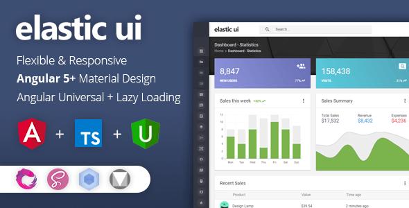 elastic ui - Angular 5 Material Design & Redux Admin Template