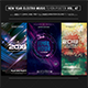 New Year Electro Music Flyer/Poster Bundle Vol. 47