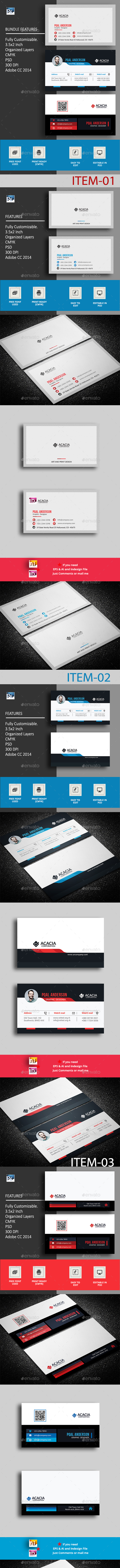 B. Card Bundle_16 (03 items) - Corporate Business Cards